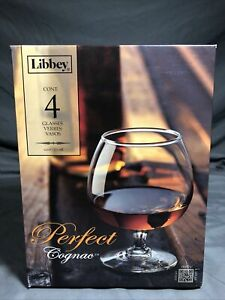 Libbey 4pc Perfect Cognac Glasses NEW 🔥