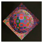 """Victor Vasarely (1908-1997)-""""Planetary"""" Heliogravure Print/Paper/23.5"""" x 23.5"""""""