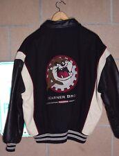 Vtg 90s Warner Bros Studios 'Tasmanian Devil' Embroidered Letterman Jacket- Sz M