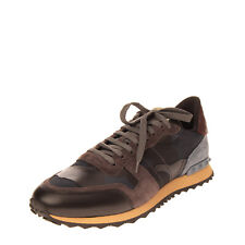 Rrp€645 Valentino Garavani Leather Sneakers Mismatch Size L 44 R 43 Rubber Studs