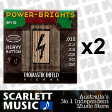 2x Thomastik-Infeld Power-Brights RP-110 Electric Strings 10-50 Heavy Bottom
