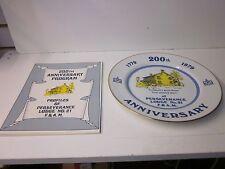 Perseverance Lodge No. 21 Masonic Plate ~ 200th  Anniversary Plate