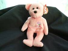 Ty Beanie Baby - MUM the bear (8.5 inch) - pink Sparkle EUC 2001 Mother's Day
