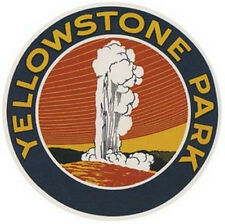 """Yellowstone Natl Park   Vintage-Looking 4"""" Travel Decal"""