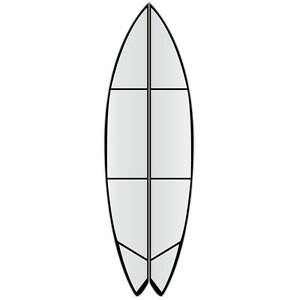 """versa Traction clear DECK grip tape for a 7'0""""fish surf boards RRP$105"""
