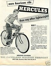 1954 small Print Ad of Cleveland Welding Co Hercules Model 4229 Bicycle