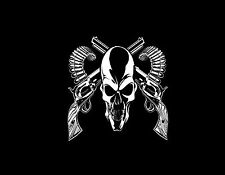 SKULL & GUNS   MOUSE PAD  IMAGE FABRIC TOP RUBBER BACKED