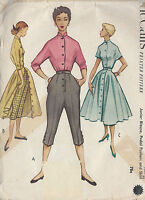 "1952 Vintage Sewing Pattern B33"" - W27"" SKIRT, BLOUSE & PEDAL PUSHERS (R824)"