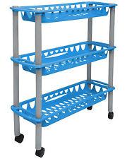 Ondis24 Rollwagen Badwagen Haushaltwagen Nischenwagen Nischenregal Still blau