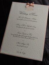10 x Handmade Personalised Wedding Vintage Motif Table Menu Cards