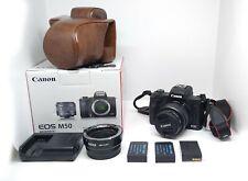 Canon EOS M50 + Ef-M 15-45mm + adattatore EfM-EF