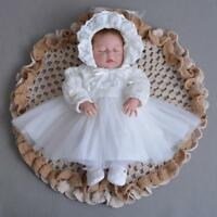 Lace Princess Christening Dress Newborn Baby Girl Infant Baptism Gown Skirt