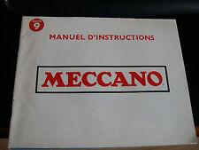 MECCANO - Notice pour boite n° 9
