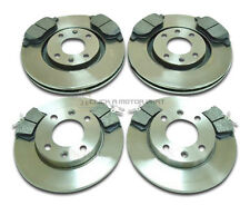 PEUGEOT 307 2000-2005 NEW FRONT & REAR BRAKE DISCS & PADS CHECK SIZE OF DISCS