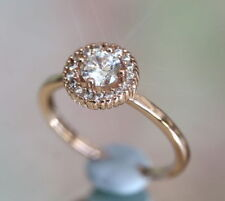 Round Rose Gold Filled Fine Diamond Rings