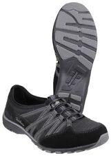Zapatillas deportivas de mujer Skechers de tacón bajo (menos de 2,5 cm) de ante
