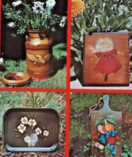 "1972 ""Decorative Tole Painting"" Basic Course How-To & Pattern Book Folk Art 6313"