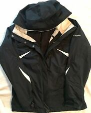 Columbia Women Interchange Jacket 3-in-1 Winter Ski Snow Parka Coat Hood Medium