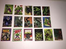 MARVEL THE INCREDIBLE HULK TOPPS 2003 trading BASE CARD lot of 16