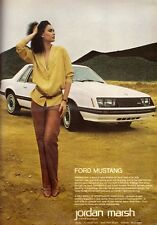 1978 Ford Mustang Car Automobile 5-Pg Retro Print Ad Vintage Advertisement 70s