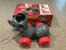 Vintage Slinky Elephant Pull Toy Collectible with box #460 The Name's James