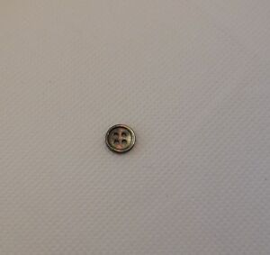 2 pcs ivory OR black grey shell plastic sew on clothes jackets buttons flat base