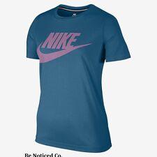 Nike Sportswear Essential Women's Short Sleeve Top S Blue Orchid Shirt Casual