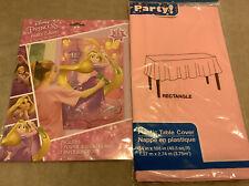 Disney Princess Rapunzel Tangled Party Games & Pink Disposable Tablecloth #O159