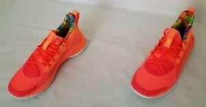 Unisex Men Sz 7.5 Wm Sz 9 Peach Plasma Beta Under Armour Curry 7 Sour Patch Shoe