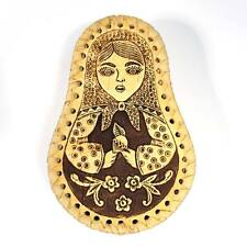 "Box ""Nesting doll. Matryoshka"". Handmade of Birch Bark #28"