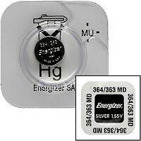 Energizer Set of 2 Batteries 364/363 Sr621sw 1 55v Button Battery