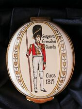 Crummles Enamel Trinket Box, Sergeant Grenadier Guards Circa 1815, Original Box