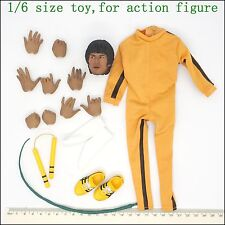 L44-14 1/6 scale Bruce lee Death of game Head & clothing set