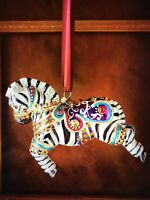 JAY STRONGWATER, ZEBRA-ORNAMENT, EMBELLISHED ORNAMENT NIB WITH TAGS,CARD