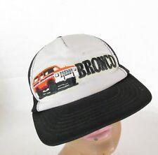 Vtg Embroidered Patch Bronco Truck Mesh Trucker Snapback Hat Cap