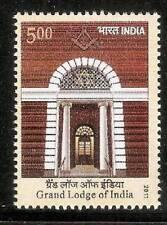 India 2011 Grand Lodge Freemasonry Masonic Lodge Architecture 1v stamp