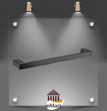 750mm Bathroom Single Towel Rail Towel Bar Matt Black Chrome Finish
