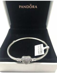 Pandora moments heart snake chain bracelet 16cm | boxed new