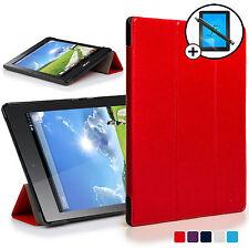 Rojo Funda Smart Carcasa para Acer Iconia Un 7 B1-780 Protector De Pantalla &