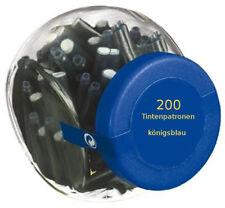200 Füllerpatronen / Tintenpatronen / im Glas / königsblau