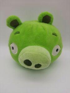 "Rovio Angry Birds Plush Pig 6"" Green Commonwealth Toy 2010"