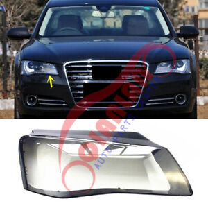 For Audi A8 D4 2011-2014 Right Side Headlight Lens Cover + Sealant Glue