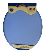 Ultra-Soft Standard Round Toilet Seat with Plastic Hinges