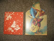 VTG CHILDREN'S BOOKS - LOT OF 2 - FROG FROLICS & THE NIGHT B4 CHRISTMAS - SOFTCO