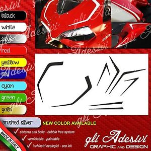 Series Adhesives Stickers Compatible DUCATI Panigale Tail Tidy Tapered Tank A2