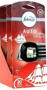 3 Count Febreze 0.07 Oz Auto Old Spice Vent Clip Up To 30 Days Air Freshener