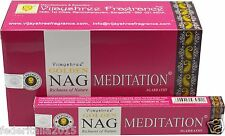 ORIGINAL VIJAYSHREE FRAGRANCE NAG MEDITATION AGARBATHI BOX 12 INDIA 180g