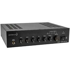 Dayton Audio DA40T 40W Tabletop Mixer-Amplifier 70V/100V or 4 Ohm 2 Mic 1 Aux 1