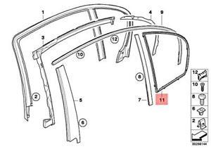 For BMW Genuine Door Window Frame Rear Left 51357033645