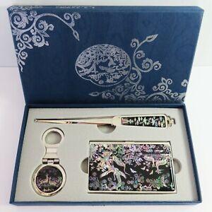 Mother of Pearl Gift Set Keyring Letter Opener Business Card Holder Najeonchilgi
